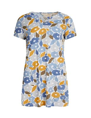 Organic Cotton Floral V-Neck Tunic