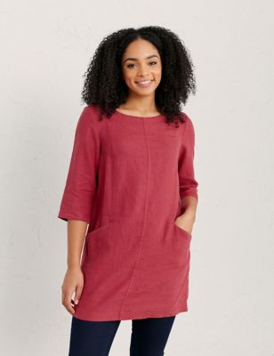 Pure Linen Round Neck Regular Fit Tunic