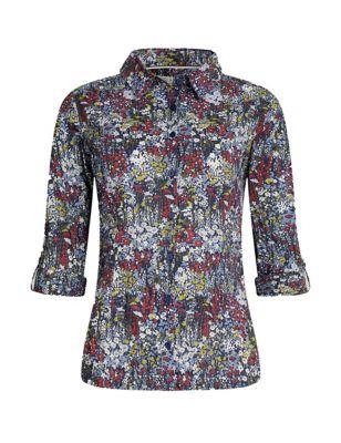 Organic Cotton Floral Long Sleeve Shirt