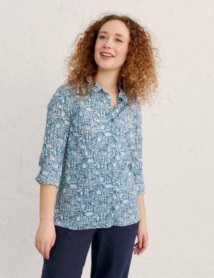Organic Cotton Printed Long Sleeve Shirt
