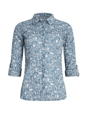 Organic Cotton Printed Long Sleeve Shirt
