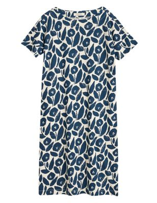 Organic Cotton Floral Shift Dress