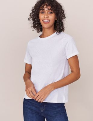 Pure Cotton Embroidered Regular Fit T-Shirt