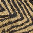Leather Zigzag Print Flat Mules - blackmix