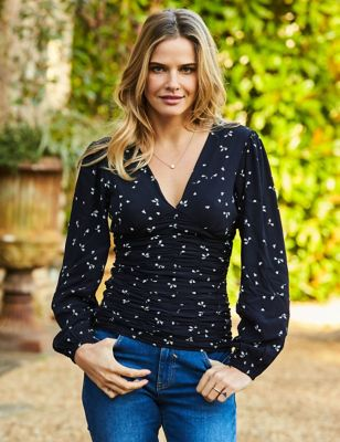 Ditsy Floral Long Sleeve Blouse