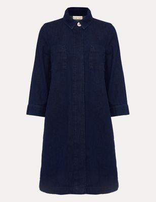 Denim Mini Shirt Dress