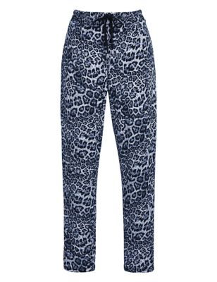 Animal Print Slim Fit Cropped Trousers