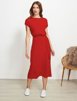 Jersey Midi Relaxed Waisted Dress