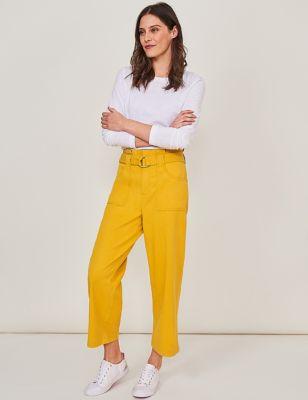 Cotton Utility Straight Leg 7/8 Trousers