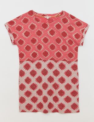 Pure Cotton Geometric Tunic