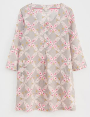 Pure Linen Floral Tunic