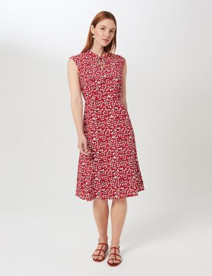 Geometric Knee Length Swing Dress