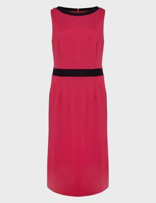 Sleeveless Knee Length Tailored Dress