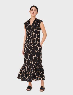 Animal Print Maxi Smock Dress
