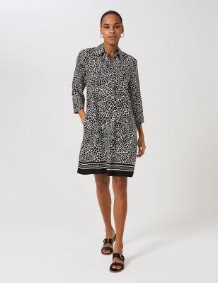 Animal Print Knee Length Shift Dress