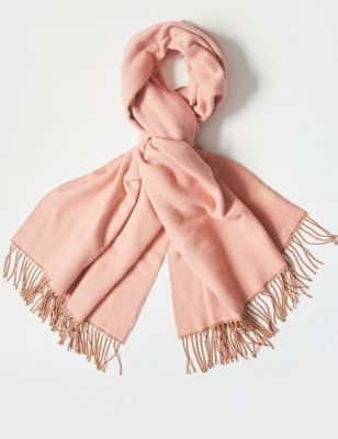 Reversible Scarf with Wool
