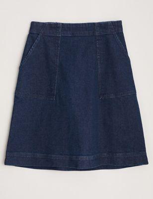 Cotton Knee Length A-Line Skirt