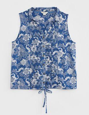 Organic Cotton Printed Sleeveless Top