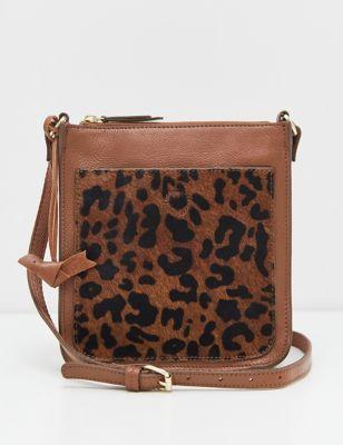 Leather Metallic Cross Body Bag