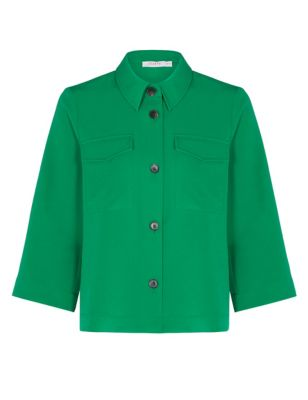 Collared Relaxed Long Sleeve Shirt