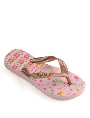Kids' Floral Flip-Flops (Size 7-13)