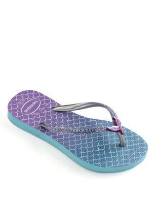 Kids' Glitter Flip-flops (Size 7-13)