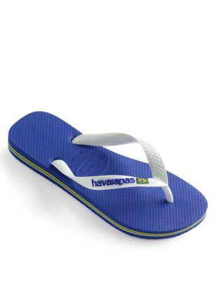 Kids' Brazil Logo Flip-Flops (Size 7-13)