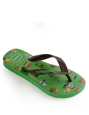 Kids' Minecraft Flip-flops (Size 7-13)