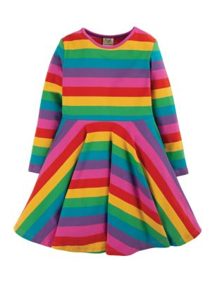 Organic Cotton Striped Dress (6 Mths - 5 Yrs)