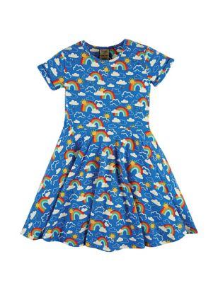 Organic Cotton Rainbow Dress (6 Mths -5 Yrs)