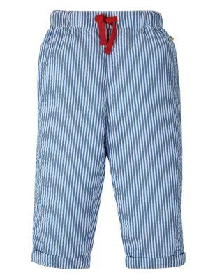 Organic Cotton Striped Joggers (0-5 Yrs)