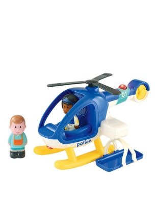 Happyland Lights & Sounds Police Helicopter (18 Mths-5 Yrs)