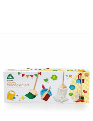 Wooden Deluxe Cleaning Playset (3+ Yrs)
