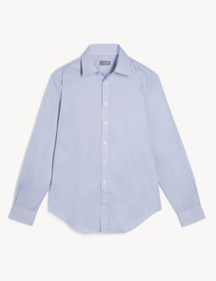 Slim Fit Pure Cotton Geometric Print Shirt