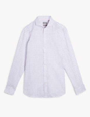 Slim Fit Pure Cotton Check Shirt