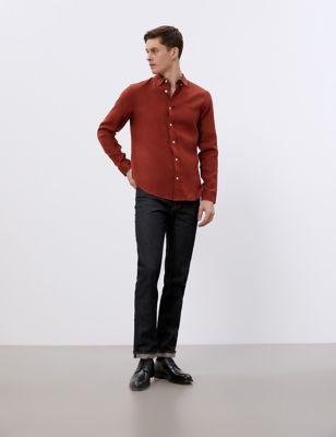 Regular Fit Pure Linen Shirt