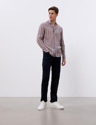 Pure Linen Striped Shirt