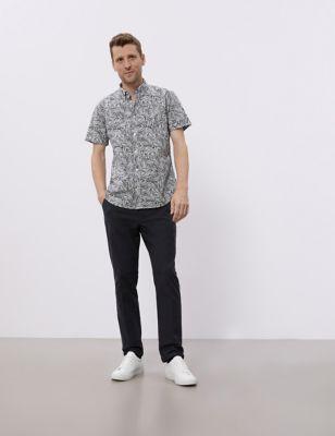 Pure Cotton Print Oxford Shirt