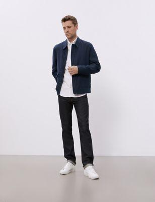 Linen Harrington Jacket