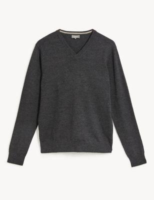 Pure Merino Wool V-Neck Jumper