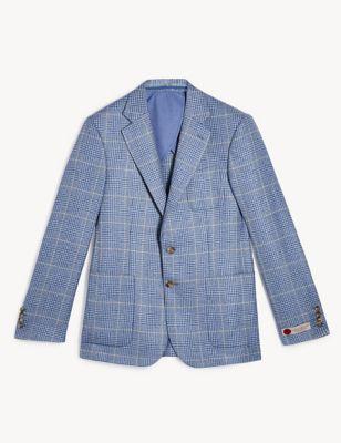 Regular Fit Wool Check Jacket