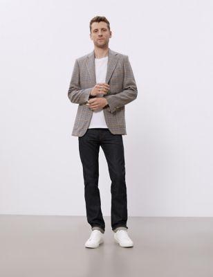 Regular Fit Pure Wool Puppytooth Jacket
