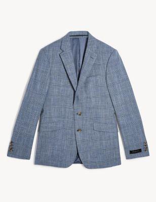 Wool Slim Checked Jacket