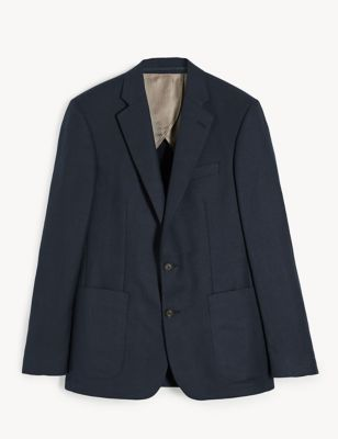 Tailored Fit Silk Linen Jacket