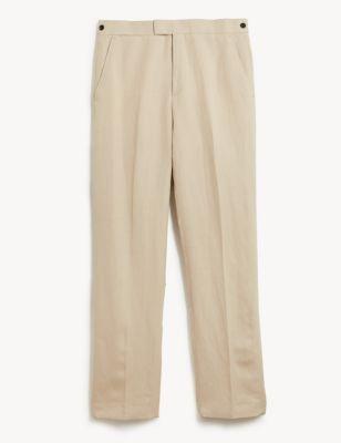 Regular Fit Silk Linen Trousers