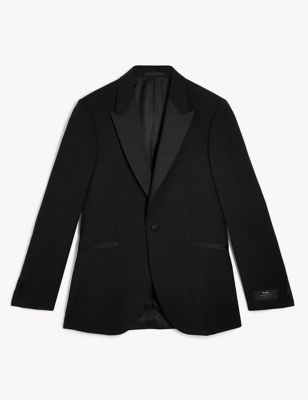 Regular Fit Wool Tuxedo Jacket