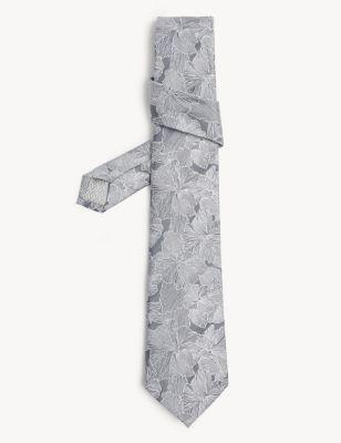 Floral Pure Silk Tie