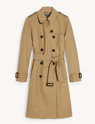 Pure Cotton Double Breasted Trench Coat