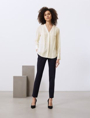 Pure Silk Long Sleeve Blouse
