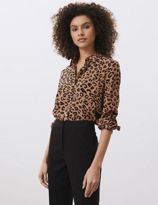 Pure Silk Animal Print Shirt